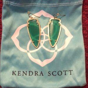 Beautiful green Kendra Scott earrings